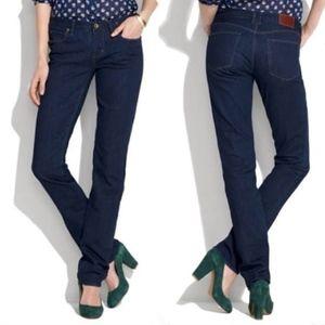 Madewell Raill Straight Indigo Blue Jeans 26x34
